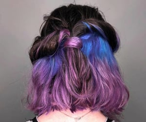 hairstyle, updo, and colorhair image
