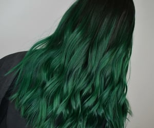 green hair, hair, and hairstyle image