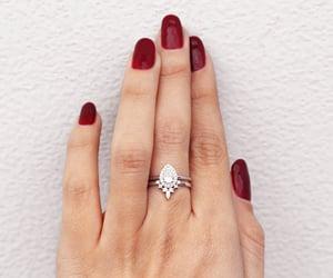 etsy, anniversary ring, and diamond wedding ring image