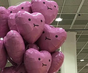 balloons, pink, and aesthetic image