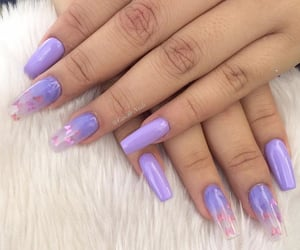 girls, nails, and purple image