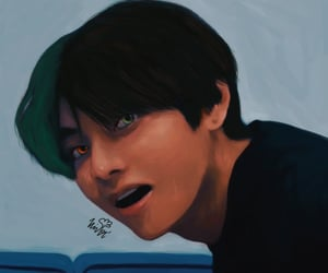 art, jhope, and kimtaehyung image