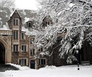 aesthetic, winter, and hogwarts image