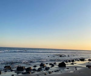 beach, ski, and ocean image