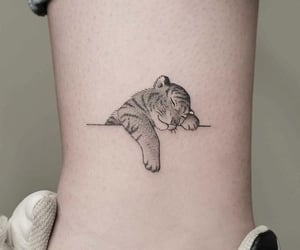 tattoo, cute, and tiger image