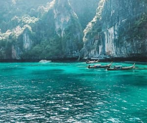 travel, water, and blue image