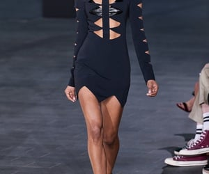 black dress, cut out, and haute couture image