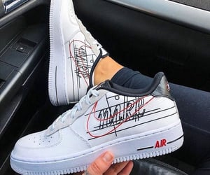 sneakers, nike, and airforce image