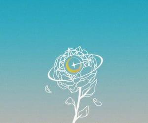 kpop, light blue, and Logo image
