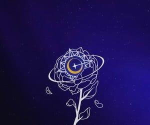 dark blue, Logo, and kpop image