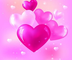 background, red, and hearts image