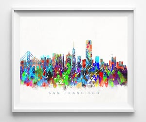 cityscape, etsy, and poster image
