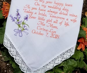 embroidered, wedding day, and wedding decor image