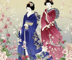 aesthetic, cherry blossoms, and art image