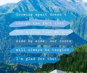 apart, growing, and words image