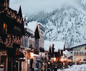 aesthetics, homes, and snow image