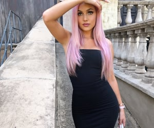 babe, pink, and black image