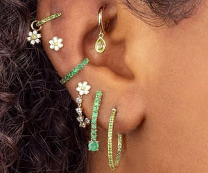 green and Piercings image