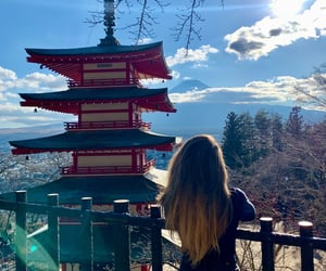 iconic, japan, and scenic view image