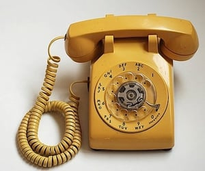 yellow, telephone, and vintage image