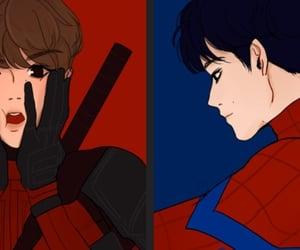 deadpool, Marvel, and otp image