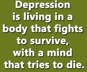 depression, life, and life lessons image