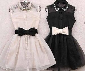 blanco y negro, transparencia, and vestidos image