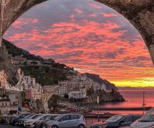 italy, travel, and sunset image