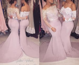 pink bridesmaid dress, cheap bridesmaid dress, and mermaid bridesmaid dress image