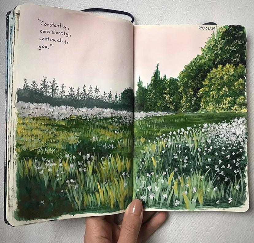 art, journal, and mood image