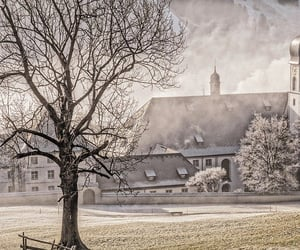 village and winter image