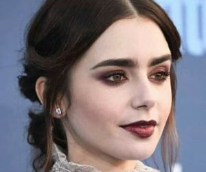 make up, lily collins, and actres image