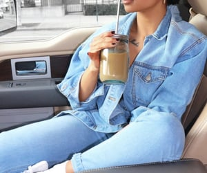 blue, coffee, and jean image