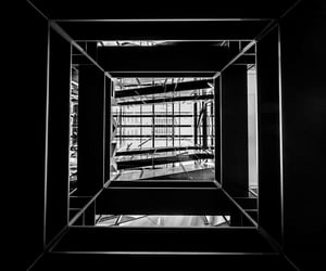 b&w, bnw, and stairs image