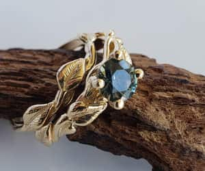 etsy, sapphirering, and leafengagement image