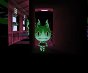 animal crossing, cyber, and dark image