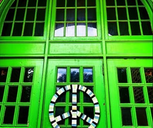 doors, green, and lime image