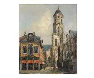 clock tower, etsy, and original signed art image