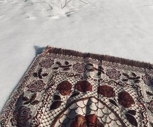 hijab, islam, and snow image