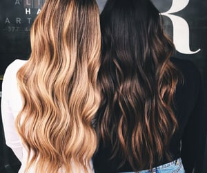 extensions, hair, and bestie image