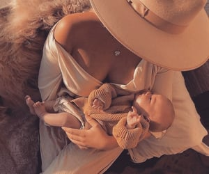 baby, sweet, and mommy image