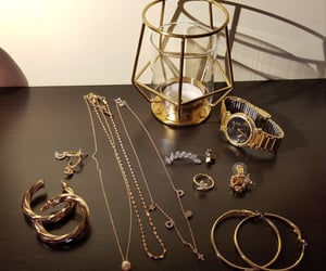 earrings, necklace, and rings image