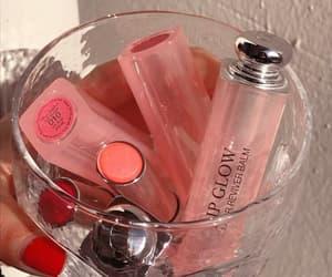beauty, pink, and lipstick image