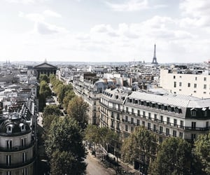 cityscape, eiffel tower, and paris image