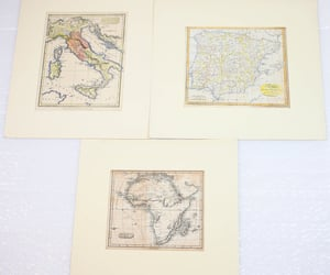 African, card, and map image