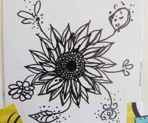 doodle and sunflower image