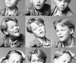 black and white, Leonardo di Caprio, and photograph image
