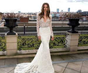 beaded, embroidery, and bridal image