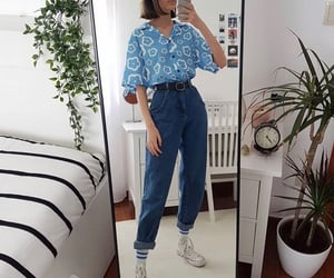 70s, 80s, and denim image