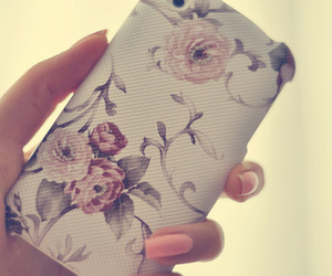 flowers, iphone, and nails image